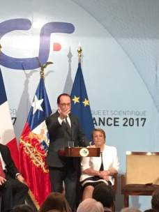 Hollande, Bachelet, ene 2017
